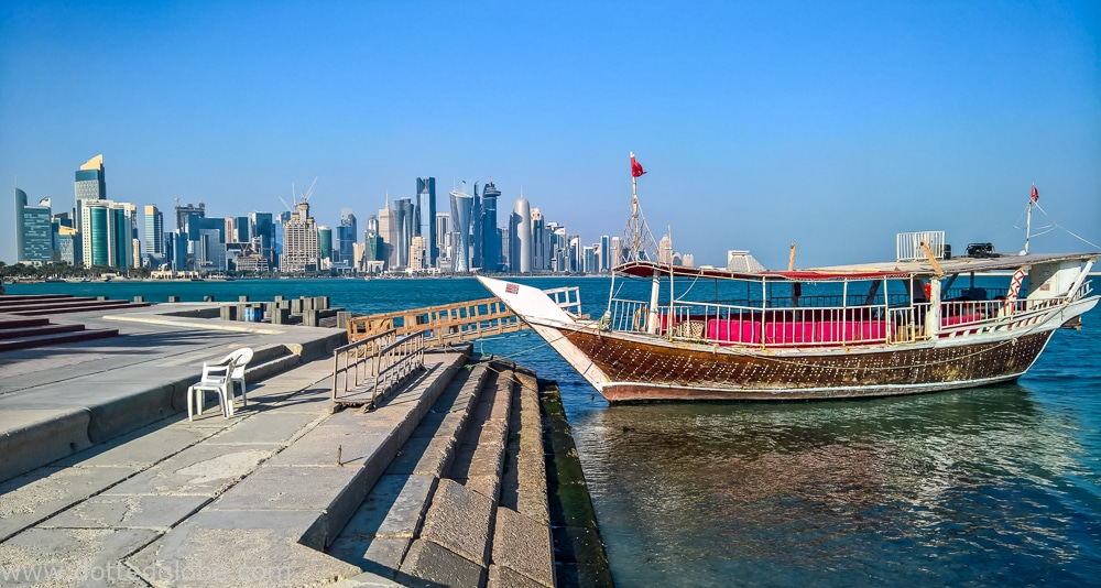 A boat in Doha, Qatar to show Islamic Culture