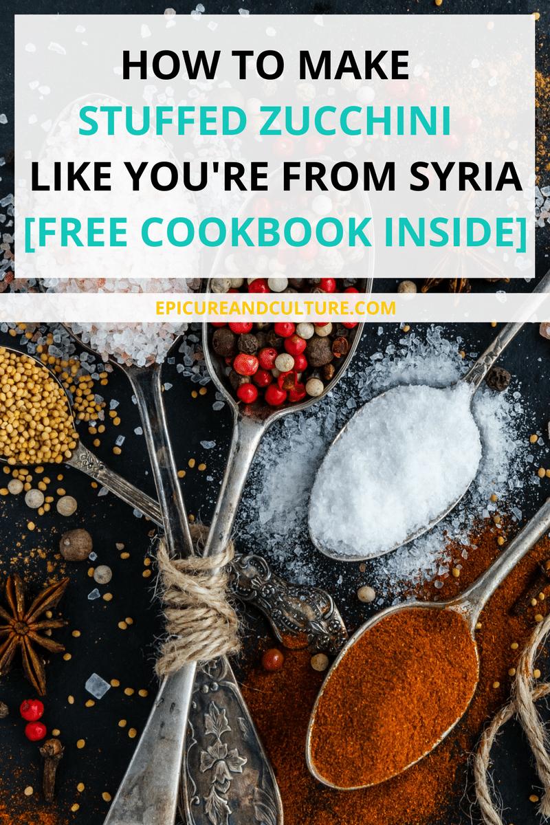 free cookbook download how to make stuffed zucchini like a syrian
