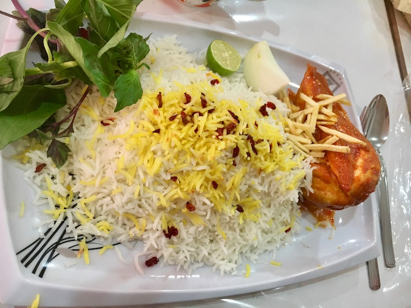 Food in iran consists of some delicious rice dishes