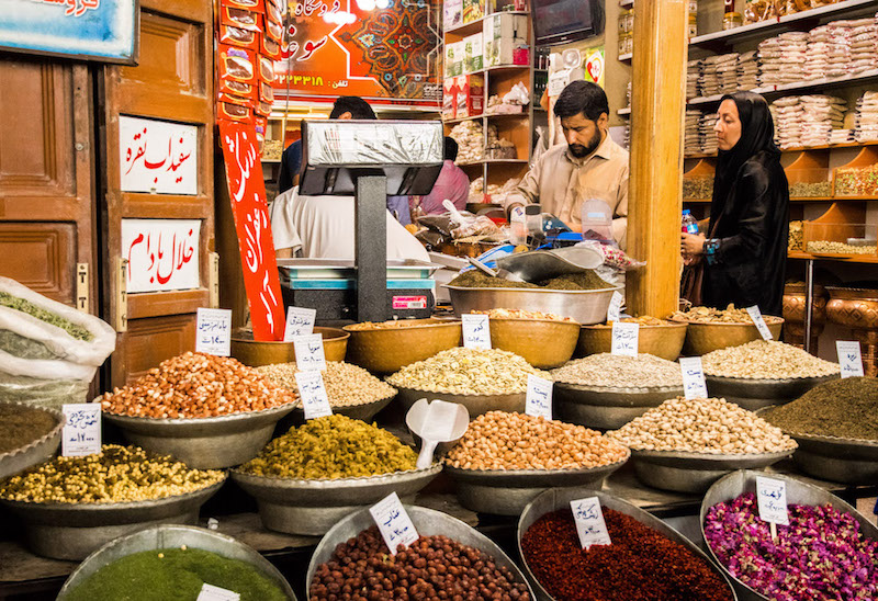 at the spice bazaar - food in iran at its best.