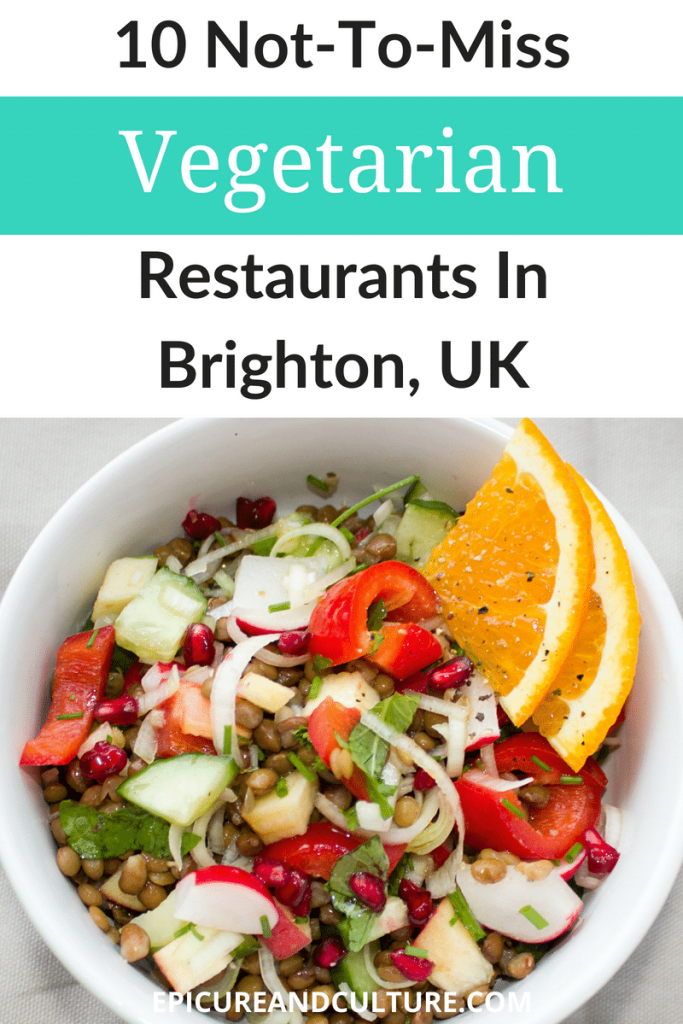 In Brighton England, vegetarian restaurants abound. If you're looking for an ethical Brighton restaurant suggestion featuring a menu of delicious plant-based dishes, check out this tasty blog post! #Brighton #England #UKTravel