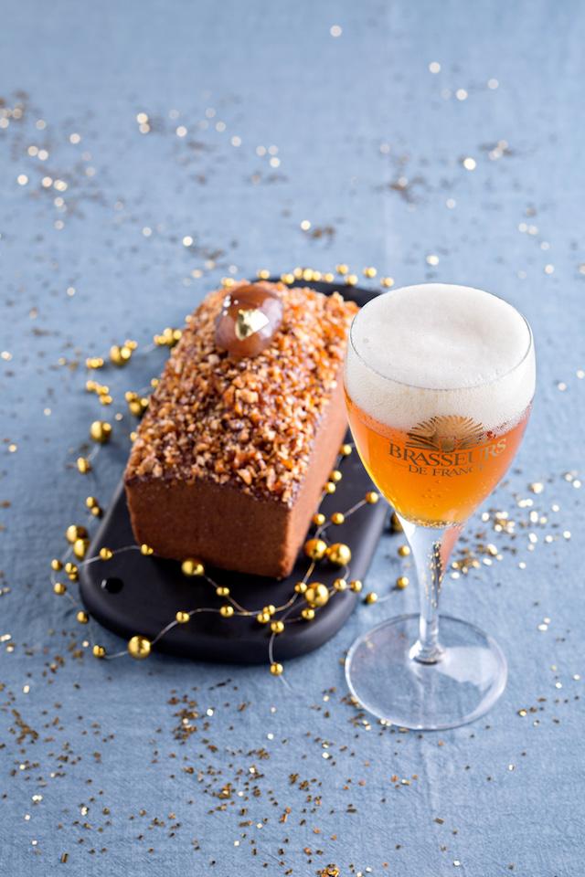 Cake aux marrons glaçés de Christophe Felder - Photo : Catherine Madani pour Brasseurs de France