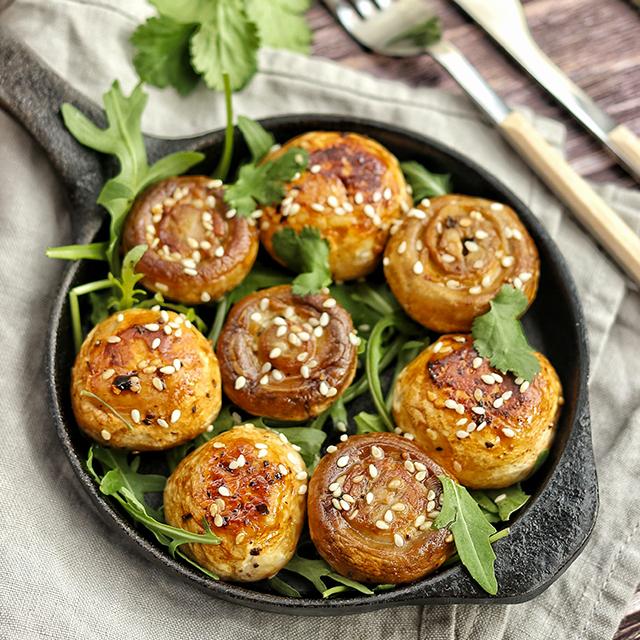 Champignons rôtis à l'asiatique - Recette proposée par Christelle Gauget (Cricri les petites douceurs)