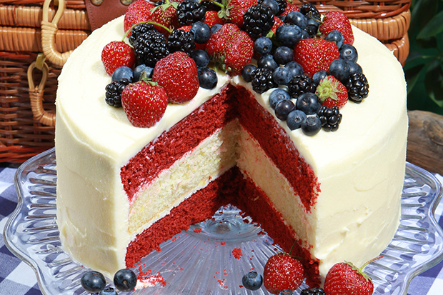 Glorious Red, White, And Blue Cake Recipe