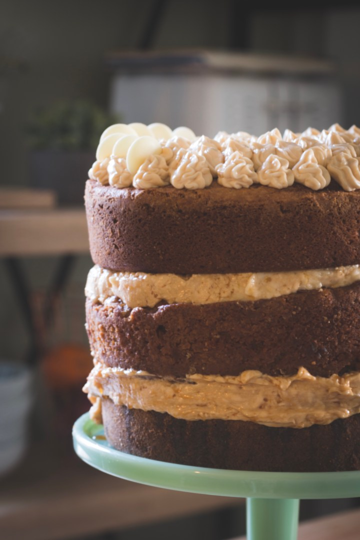 Triple Layer Cookie Cake with Salted Caramel Butter Cream