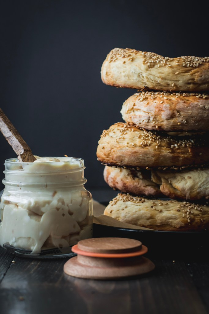 Jerusalem Bagels with Burnt Honey Cream Cheese