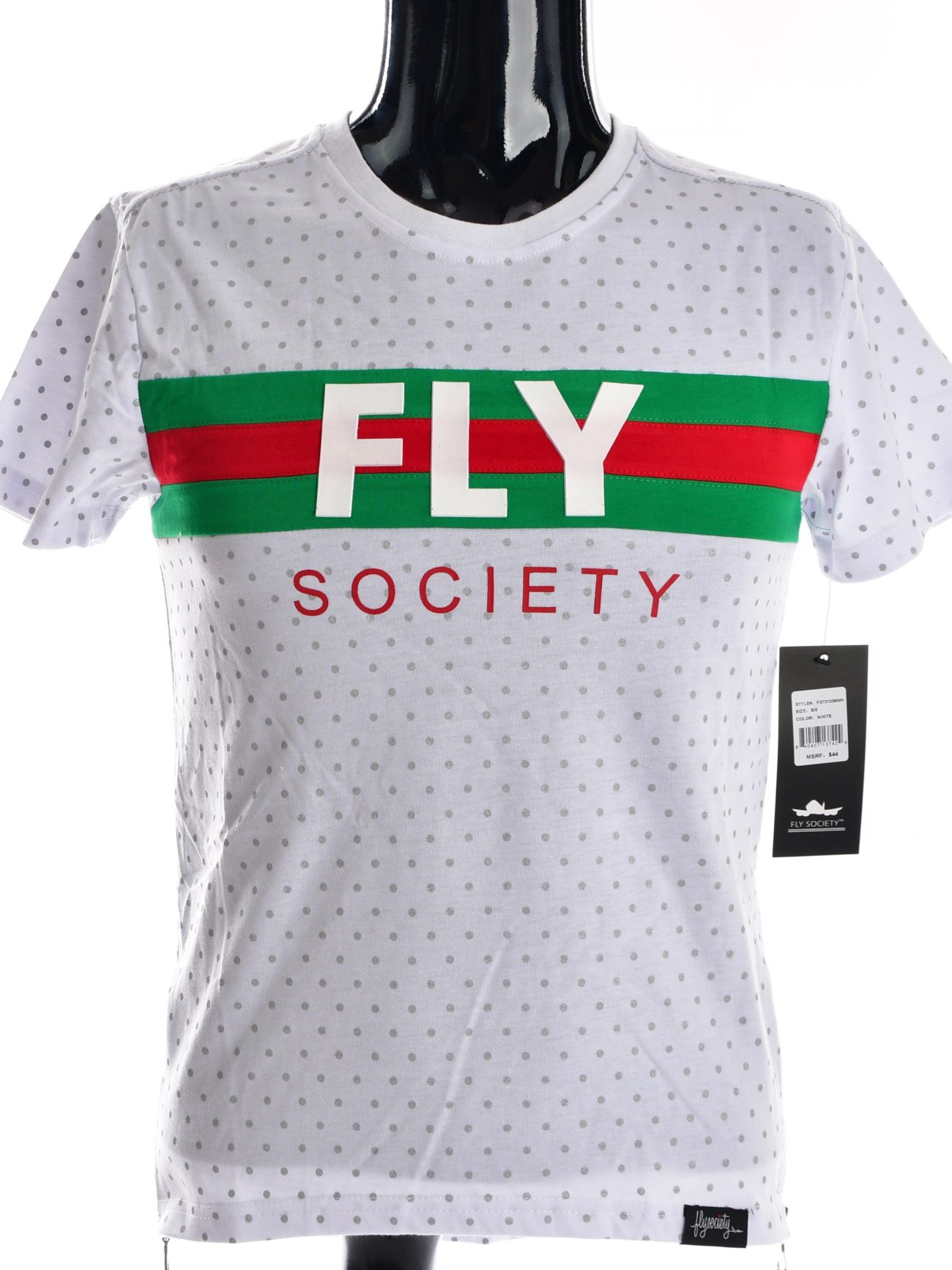 aec2c634d BOYS' FLY SOCIETY GUCCI STRIPED T-SHIRT-WHITE | EPIC VIBEZ