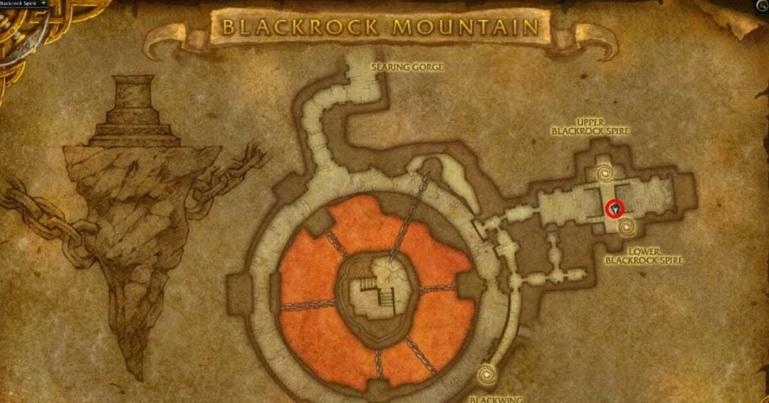 Razorfen Downs location map