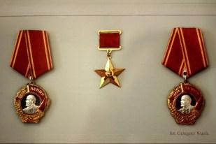 ordery Lenina i order Bohatera Pracy Socjalistycznej (muzeum Nikołaja Zielinskiego w Tiraspolu)