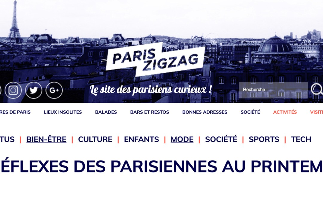 ACTUALITES / VU SUR PARISZIGZAG.FR / AVRIL 2019
