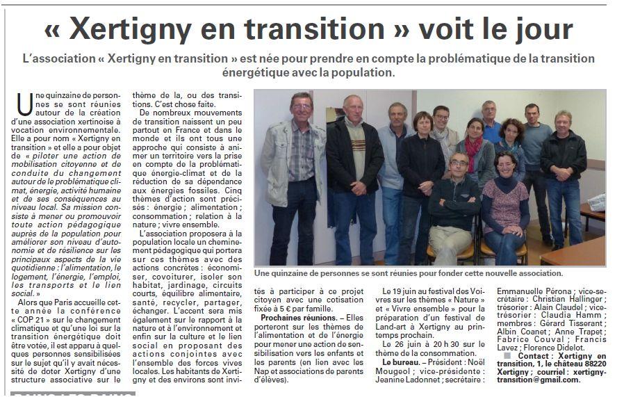 Xertigny en Transition