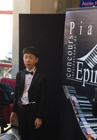 Le benjamin Hao-Wei Lin a décroché le 2ème prix