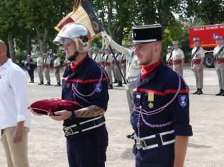 Médaille d'honneur des sapeurs pompiers étoile de bronze au lieutenant Francis Carriere