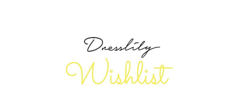 dresslily wishlist