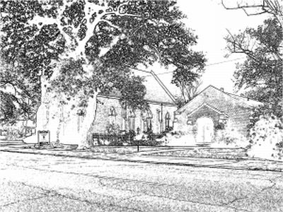 Episcopal Church of the Epiphany Sketched