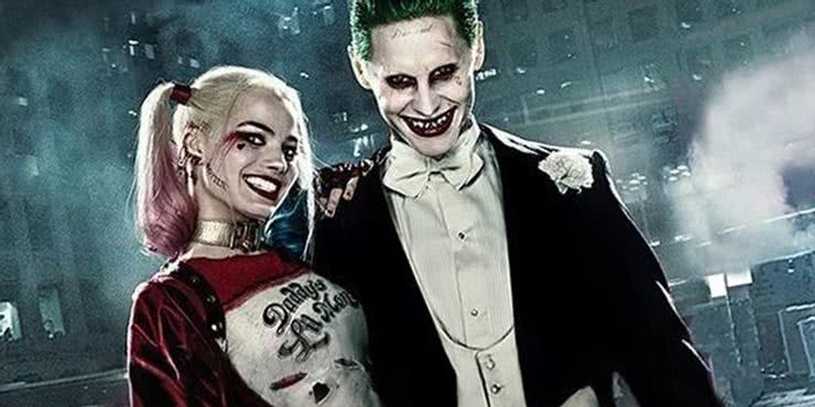 Harlequin (Margot Robbie) and Joker (Jared Leto) in Suicide Squad (Reproduction)