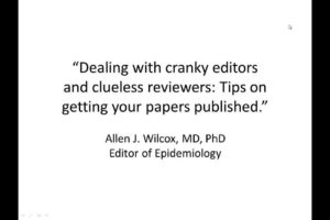 Dealing with cranky editors and clueless reviewers: Tips on getting your paper published.