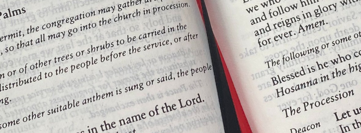 Book of Common Prayer Palm Sunday
