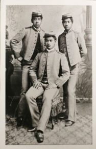 Picture of Hawaiian princes, David Kawananakoa, Edward Keli'iahonui and Jonah Kuhio Kalaniana'ole in the 1890s