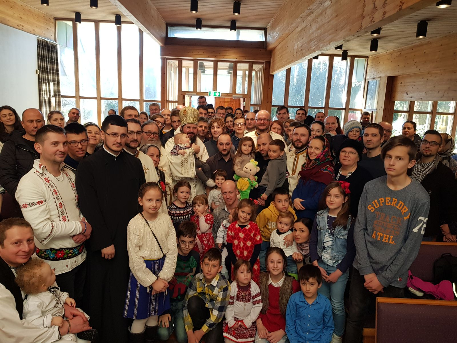 """His Grace Bishop Macarie Drăgoi at the Liturgy in Stavanger, Norway: """"When we are on the ladder of spiritual endeavors we should not look down or delay too much in the middle because it may cause us confusion or dizziness"""""""