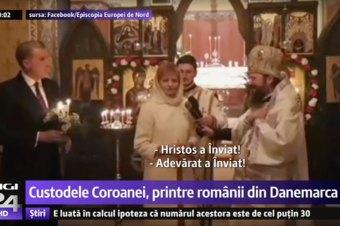Custodele Coroanei, printre românii din Danemarca la Slujba Învierii, reportaj TV