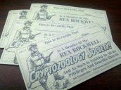 Cryptozoology Society Cards, original illustration by Rich Woodall