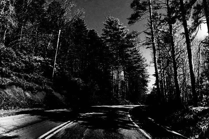 Highway 107, north of Walhalla, South Carolina.