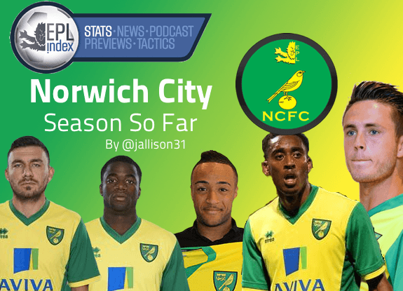 Norwich 13-14 Season So Far