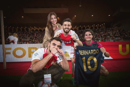 Bernardo Silva after winning ligue 1
