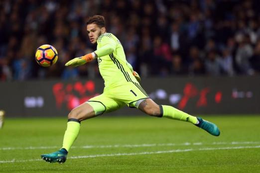 Ederson kicking a ball