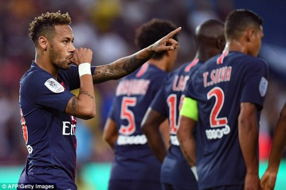 Neymar PSG vs Caen