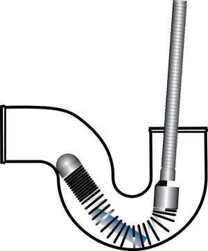 P-Trap Sonde Carrier for Tight Bends