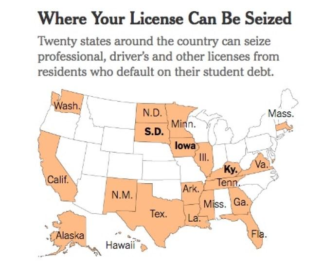 Student Debt License Seizure - NYT - 2017-11-19