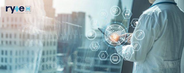 Medical tech science ai technology, innovative iot global health