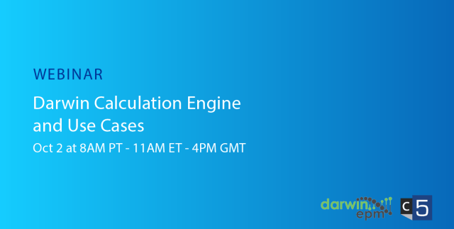 Darwin Webinar Series Part 4 – Darwin Calculation Engine and Use Cases