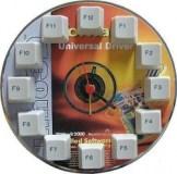 Horloge avec CD et touches de clavier informatique