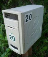 Boîte aux lettres avec unité centrale