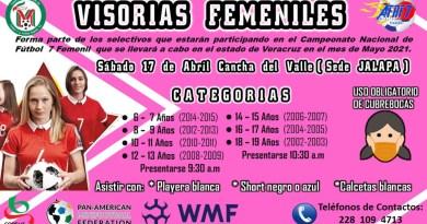 INICIAN VISORIAS DEL FUT 7 FEMENIL.