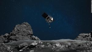 """Hvězdný vesmírný odběr: NASA vzala """"stěr"""" planetce Bennu"""