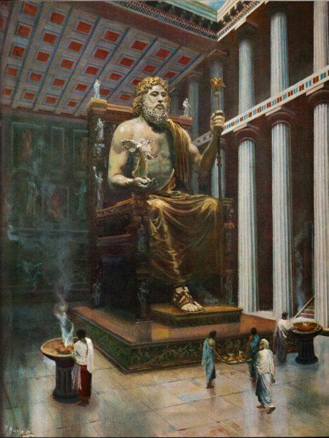 Údajné třicetimetrové vlně rozbouřené vody podlehla i legendární socha Dia.