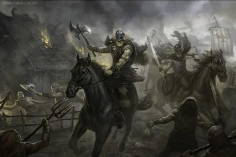 Útočící Vikingové mají zpočátku nad Angličany převahu. Teprve po reformách armády se nad nimi daří zvítězit.