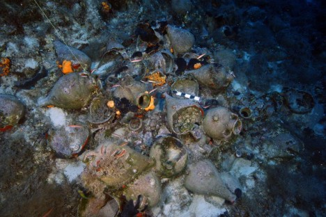 Clay jars called amphoras are all that's left of many of the newly found shipwrecks. By studying them, archaeologists can determine what the ships were carrying, where they were from, and when they sank.