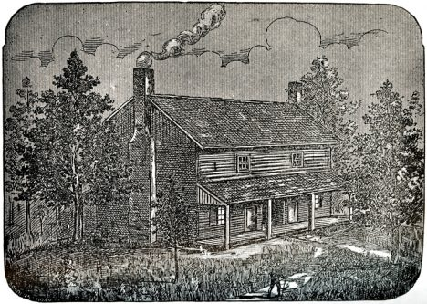 The Bell House as it looked in 1820, 1894, An Authenticated History of the Famous Bell Witch: The Wonder of the 19th Century, and Unexplained Phenomenon of the Christian Era by M. V. Ingram