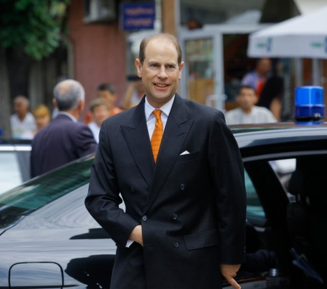 SOFIA, BULGARIA - JUNE 24: His Royal Highness The Prince Edward, Earl of Wessex, on a visit at Community Support Center