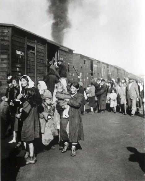Většina vězňů byla přivezena transporty z varšavského gheta.