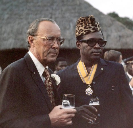 Mobutu Sese Seko with the Dutch Prince Bernhard in 1973