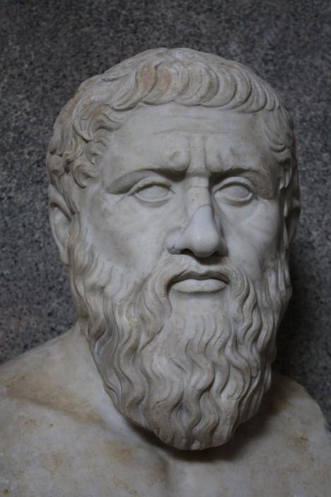 Známý řecký filozof Platón kritizuje hloupé řeči opilců.