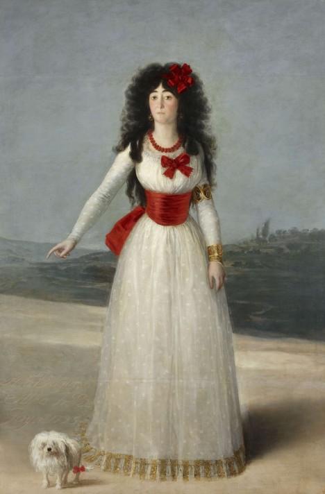 María Teresa de SilvaÁlvarez de Toledo, vévodky z Alby stála Goyovi také modelem. Proto se objevilo podezření, že nahá Maja je ona.