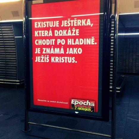 V rámci kampaně EPOCHY se v celé ČR objeví bigboardy, billboardy, plakáty na lavičkách a v pražském metru budou k vidění také CLV plakáty.