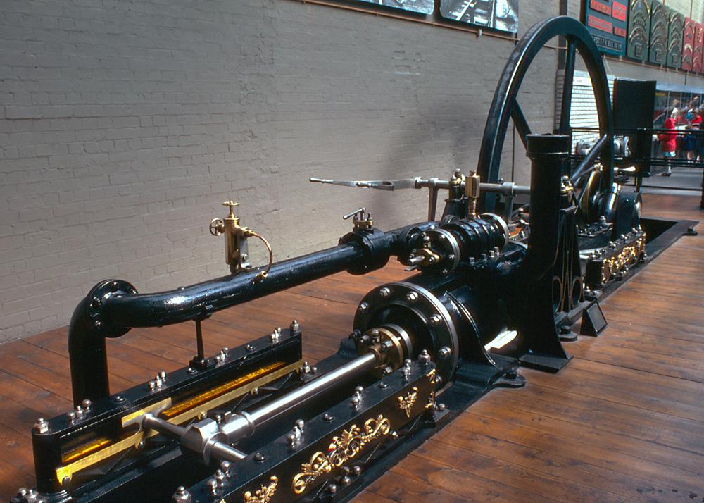 2 - Expozice parního stroje, National Railway Museum, York, Anglie.